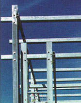 Galvanized steel girders