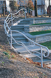 Custom pipe railing